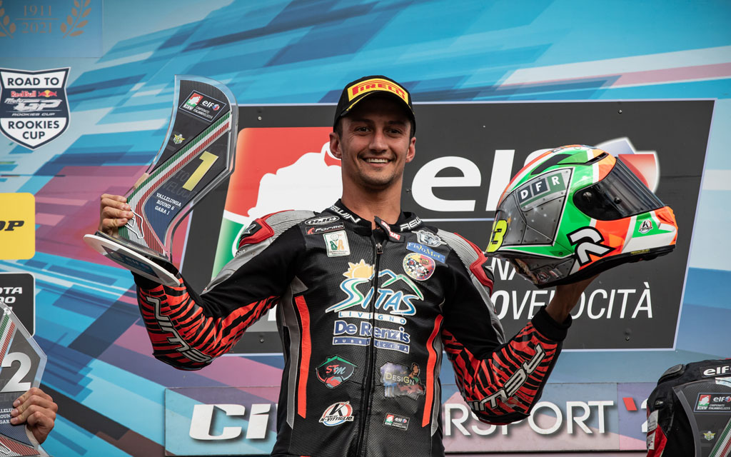 Davide Stirpe is Italy's CIV Supersport 600 Champion together with the MV Agusta F3