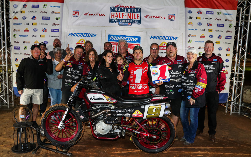 Indian Motorcycle racing secures fifth consecutive American Flat Track (AFT) Manufacturer's Championship
